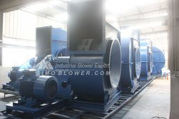 Some air cooling blowers and related accessories have painted completely for the production line of Iran's steel mill.