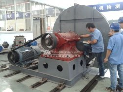 Test furnace fan with diameter of 1400mm and result show that the noise level and vibration value is under standard range