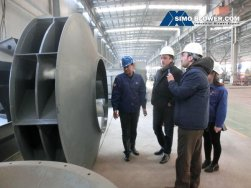 What is the market prospect about SIMO BLOWER's centrifugal fan in Middle East?