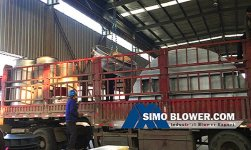 The garbage incineration line centrifugal blower fans are delivered