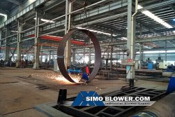 During the production of static blade adjustable fan