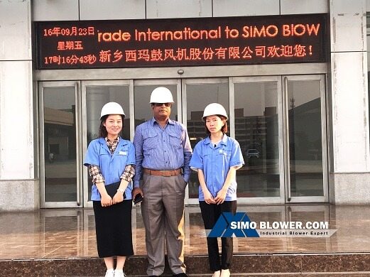 Warmly welcome partner to SIMO BLOWER