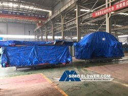 The heavy duty centrifugal fan was sent to Ukraine