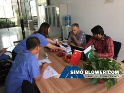 Signed sugar plant boiler centrifugal fan contract again