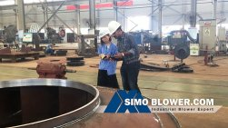 Welcome Indian customer visit SIMO BLOWER