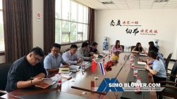 Welcome Thai customers to visit SIMO Blower