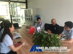 Singapore & Indonesia Customers Visit SIMO Blower