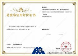 SIMO Blower was awarded the A+ level credit qualification of the Commercial Credit Center
